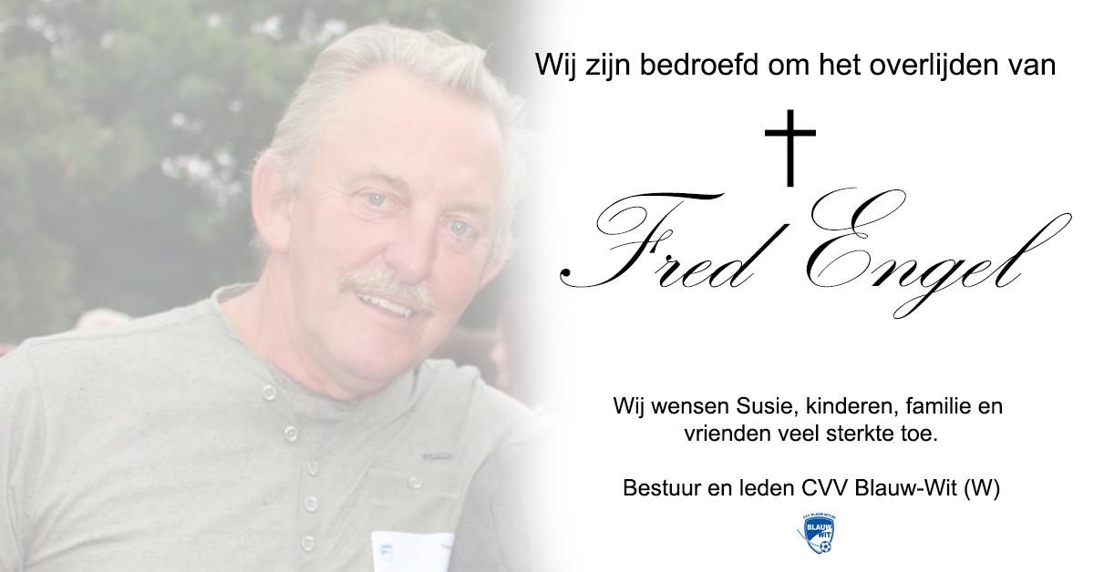 Overlijden Fred Engel